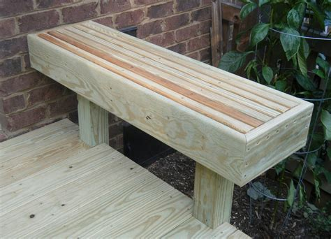 bench on deck homemade wooden benches plans trend home design and decor