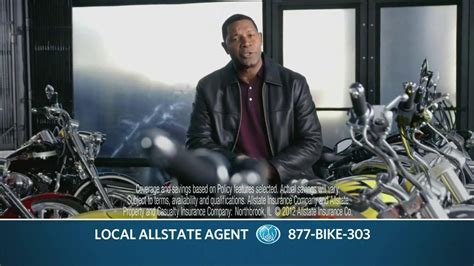dennis haysbert geico allstate tv commercial for motorcycle insurance featuring