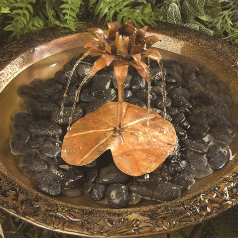 Lotus Led L Copper 7 Inc lotus flower copper dripper
