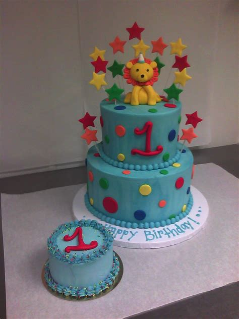 polka dotted 1st birthday cake made custom cakes