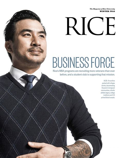 Rice Mba Recruiting by Rice Winter 2016 By Rice Issuu