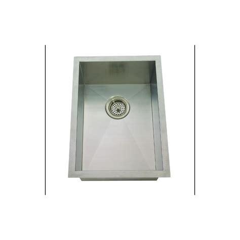 mirabelle sinks mirabelle miruc1520z stainless steel 15 quot single basin stainless steel bar sink undermount