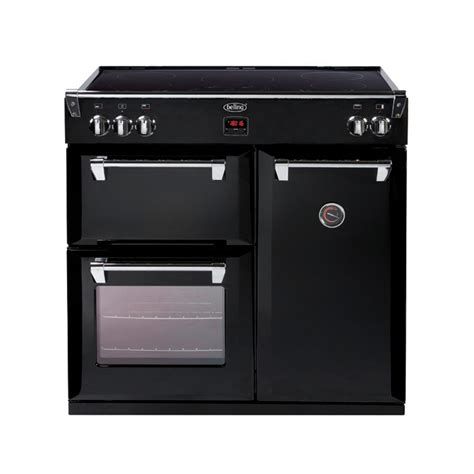 induction stove oven richmond 90cm induction range cooker black