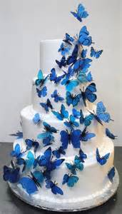blue butterfly cake onewed com