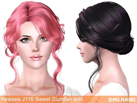 sims 3 princess hair newsea s j116 sweet slumber hairstyle retexture by sims hairs