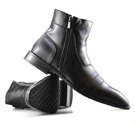 mens new leather chelsea dealer work formal ankle cowboy