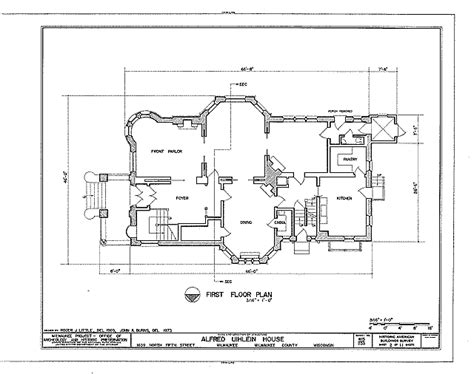 historic floor plans floor plans alfred uihlein house milwaukee wisconsin