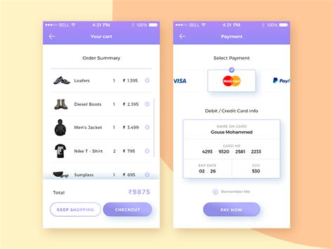 ui pattern list daily ui 002 credit card checkout by gouse mohammed