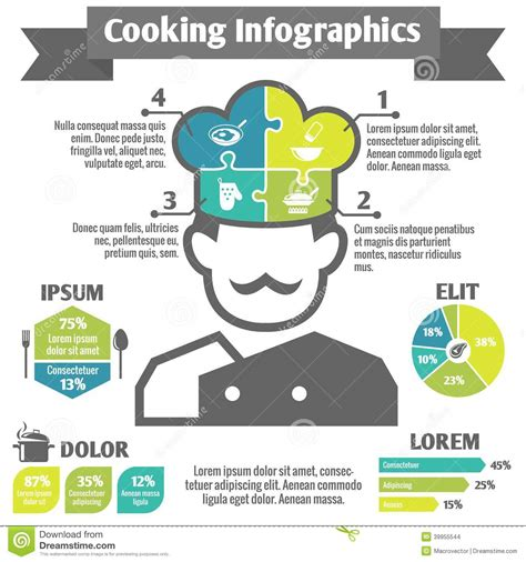 cooking infographics cooking infographics cooking infographic icons stock