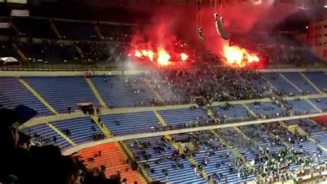saint etienne  fans  flares  inter milan uefa