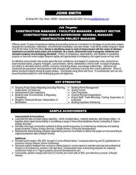 project management resume templates 25 best ideas about project manager resume on