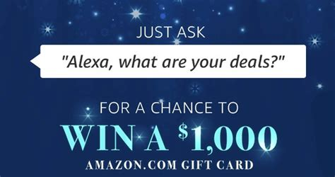 Amazon Com Sweepstakes - amazon sweepstakes ask alexa quot what are your deals quot to win