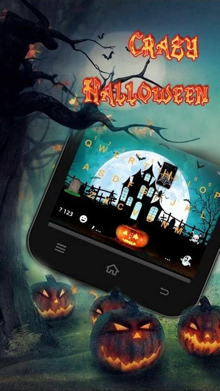 themes halloween android halloween animated kika theme free android keyboard