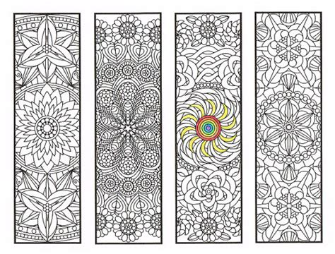 printable mandala bookmarks coloring bookmarks flower mandalas page 2 coloring for