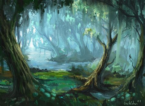 jungle painting jungle river by unidcolor on deviantart