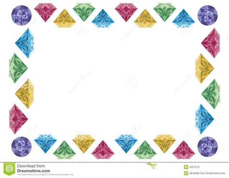 home design free gems diamond border clipart