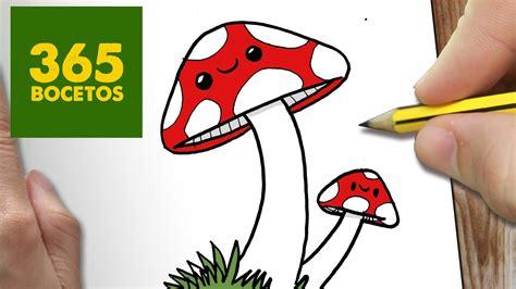 imagenes de hongos faciles para dibujar como dibujar setas kawaii paso a paso dibujos kawaii