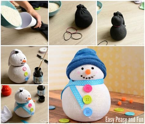 best sock snowman no sew sock snowman craft easy peasy and