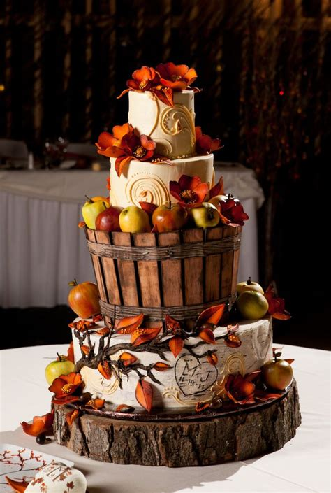 35 best fall themed images on fall wedding cakes cake and cakes