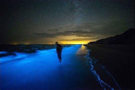 wow pantai  bertukar biru  waktu malamhanya