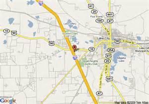 map of lake city florida map of inn hotel suites lake city lake city