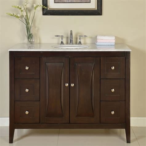 Bathroom Single Vanities Silkroad Exclusive 48 Quot Single Sink Cabinet Bathroom Vanity Set Reviews Wayfair