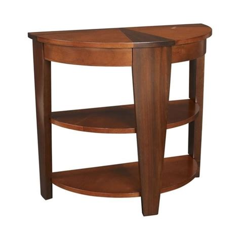 demilune accent table hammary oasis demilune end table in cherry walnut