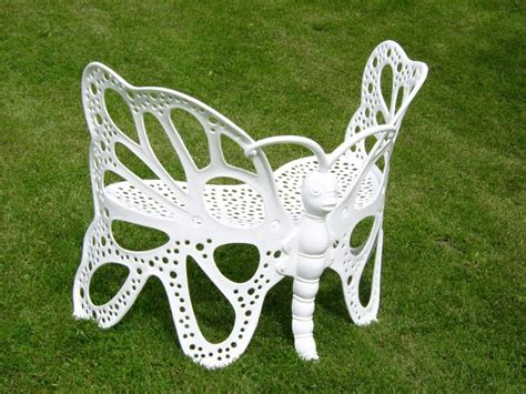 butterfly benches amazon com flower house fhbfb06w butterfly bench white