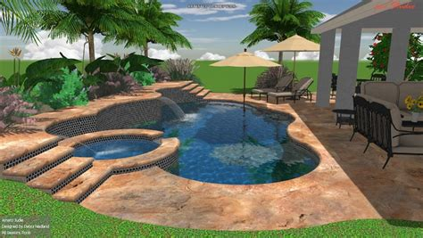3d Swimming Pool Design Sanford   Clermont   Orlando Pool