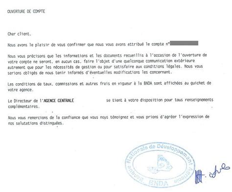 Modèle De Lettre De Demande D Ouverture De Compte Bancaire Eregulations Mali