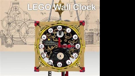 themes running clock lego ideas wall clock all lego mechanical clock