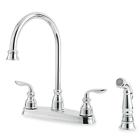 price pfister polished chrome kitchen faucet reviews buy price pfister 174 avalon dual control kitchen faucet in