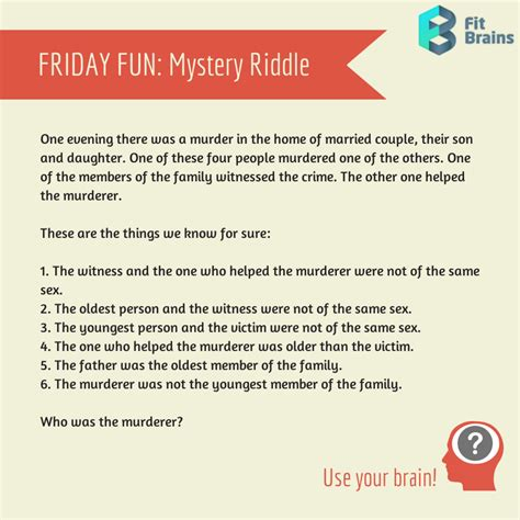 Riddles And Brain Teasers With Answers | brain teasers games riddles puzzles fit brains blog