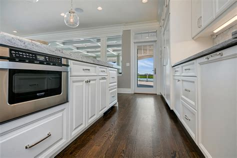 kitchen island with microwave drawer by the seaside white kitchen seaside heights new jersey by