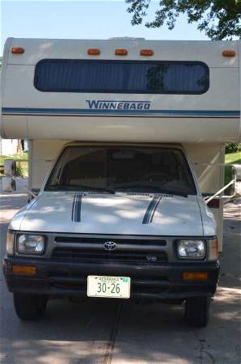 craigslist lincoln ne homes for sale 1992 toyota winnebago warrior 20ft micro motorhome for