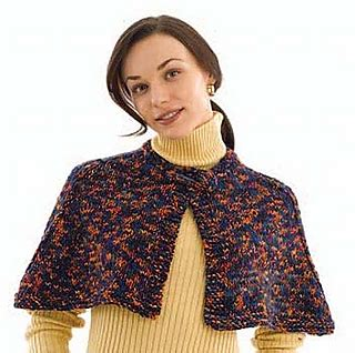 free knitting pattern library capelet ravelry quick knit capelet 40476 pattern by lion brand yarn