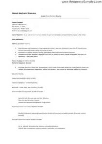 Diesel Mechanic Resume Exle by Diesel Mechanic Resume Australia Sales Mechanic Lewesmr