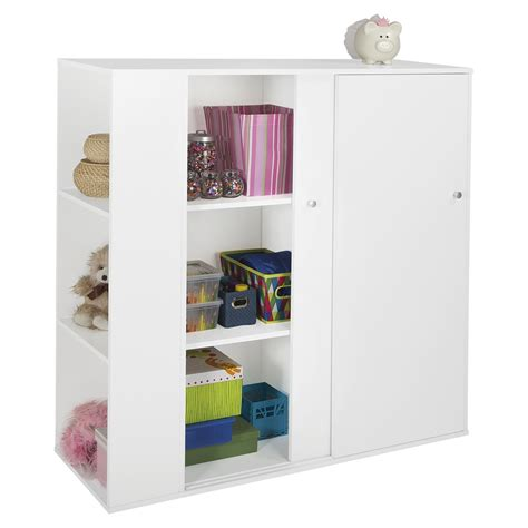 Childrens Storage Cupboards - storit storage cabinet 2 sliding doors white