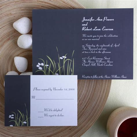country elegance wedding invitations country rustic blue wedding invitation kits ewi123