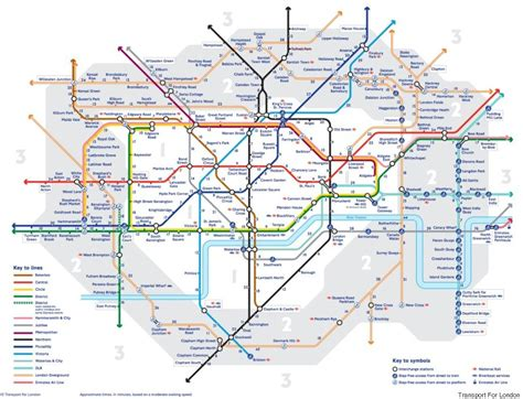 map of underground stations map reveals walking distances between different