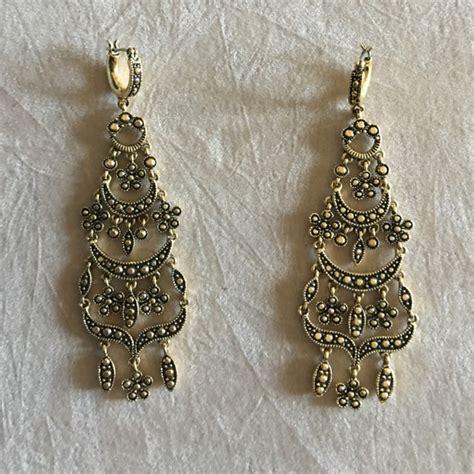 8 Off Monet Jewelry Antique Gold Look Chandelier Monet Chandelier Earrings