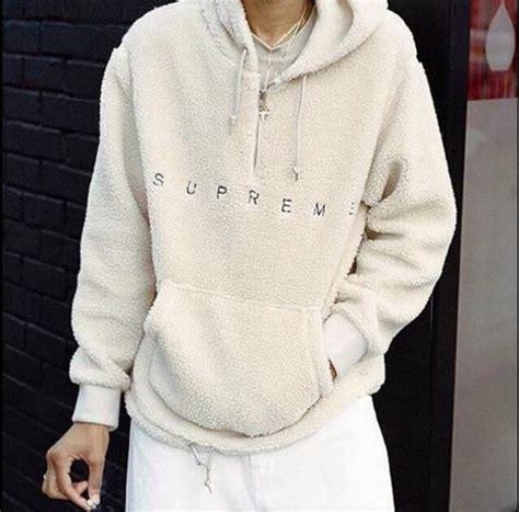 Jaket Sweater Hoodie White Sweater Supreme Supreme Jacket Jacket Supreme