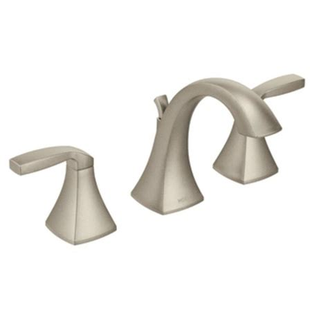 Brushed Nickel Bathroom Faucets by Moen T6905bn Voss Two Handle High Arc Bathroom Faucet