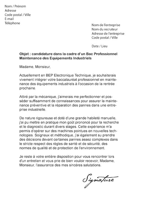 Lettre De Motivation Technicien De Maintenance Industrielle Modele Lettre De Motivation Stage Maintenance Industrielle Document