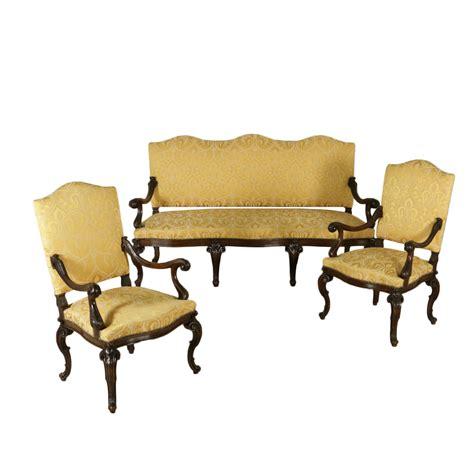 divano in stile divano e due poltrone in stile mobili in stile bottega