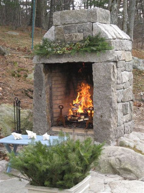 Diy Outdoor Fireplace For Under 200 Life In The Barbie Custom Outdoor Fireplace