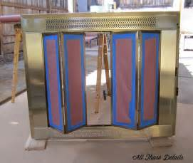 paint brass fireplace doors repainting brass fireplace doors all those detailsall those details