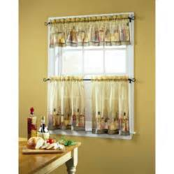 Walmart Curtains Kitchen Tuscany Sheer Printed Kitchen Tier Curtain Walmart