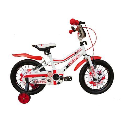 Besi Putih Original Anak 1 jual united soccer sepeda anak putih merah 16 inch harga kualitas terjamin