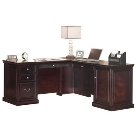 magellan espresso l shaped desk l shaped desk espresso contemporary realspace magellan l